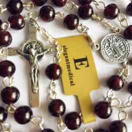 STERLING 925 SILVER ST.BENEDICT ROSARY CROSS CRUCIFIX