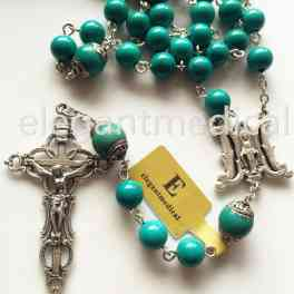 Catholic various shades UK Seller Crucifix Decades Rosary Beads Necklace